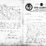 Brief Otto Lilienthal Kilian Frank